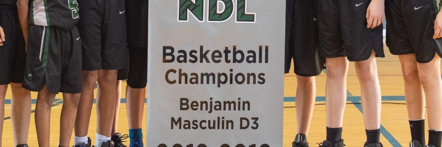 Les Benjamins champions!