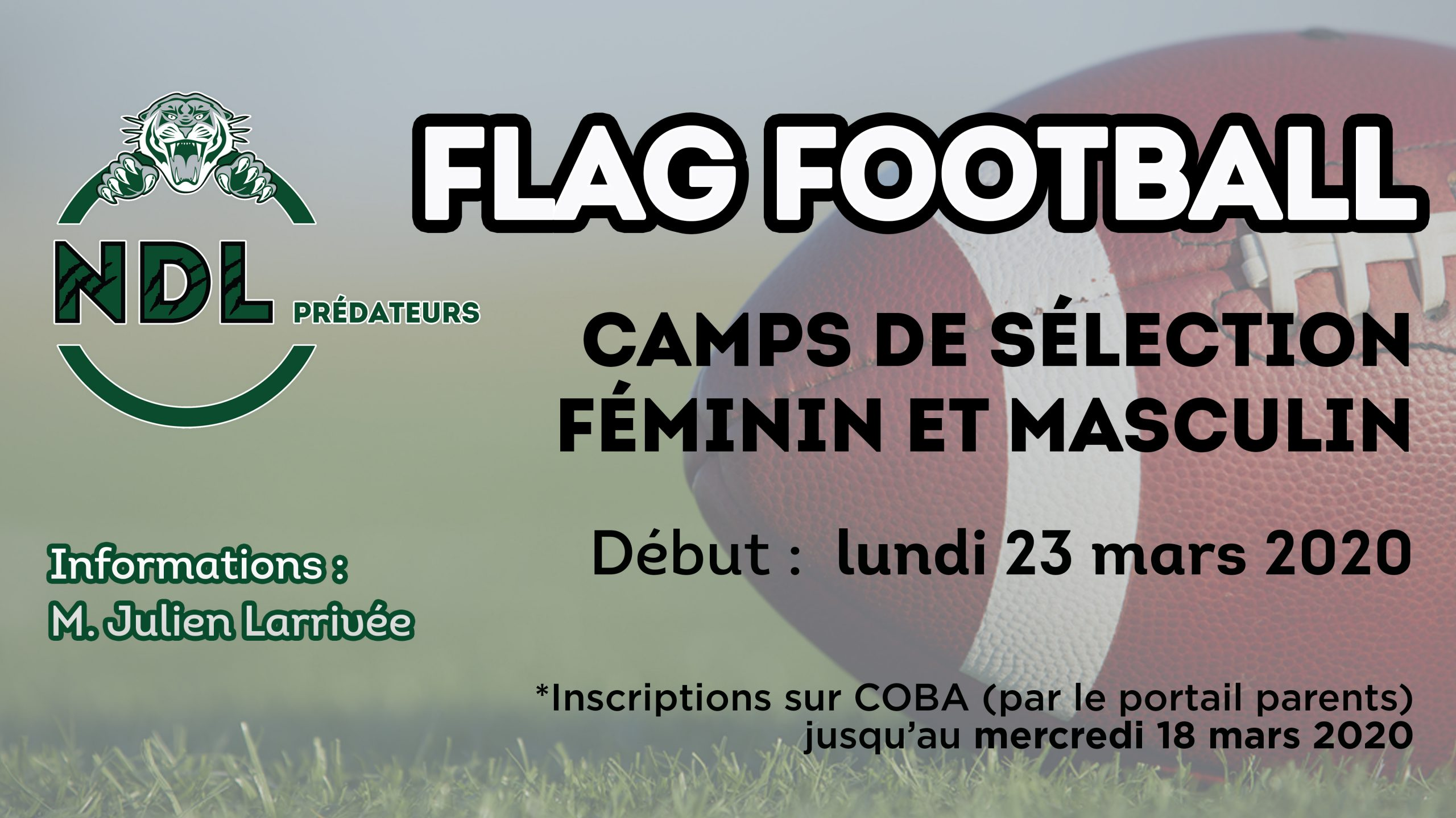 Prédateurs NDL FlagFoot-inscrip 2020